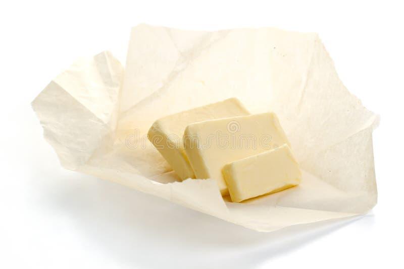 Mantequilla en el papel foto de archivo libre de regalías