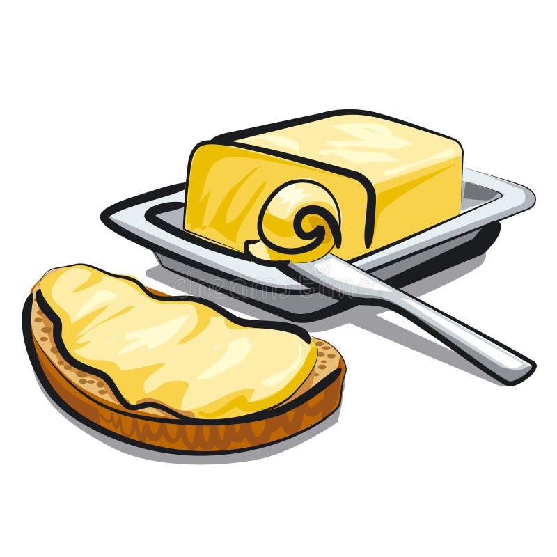 Mantequilla fresca stock de ilustración