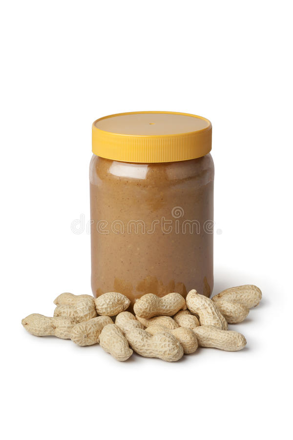 Mantequilla y cacahuetes de cacahuete foto de archivo