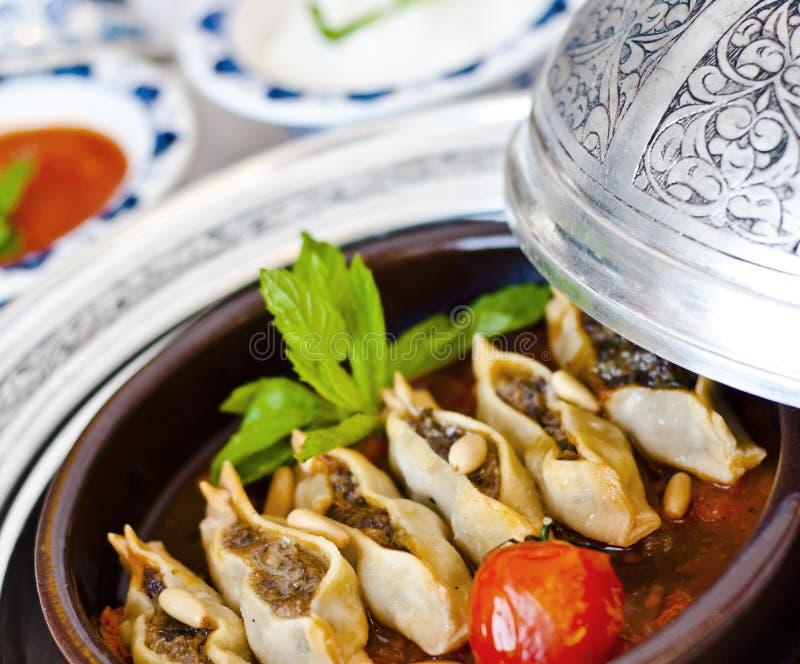 Manti, τουρκικό ravioli στοκ φωτογραφία με δικαίωμα ελεύθερης χρήσης