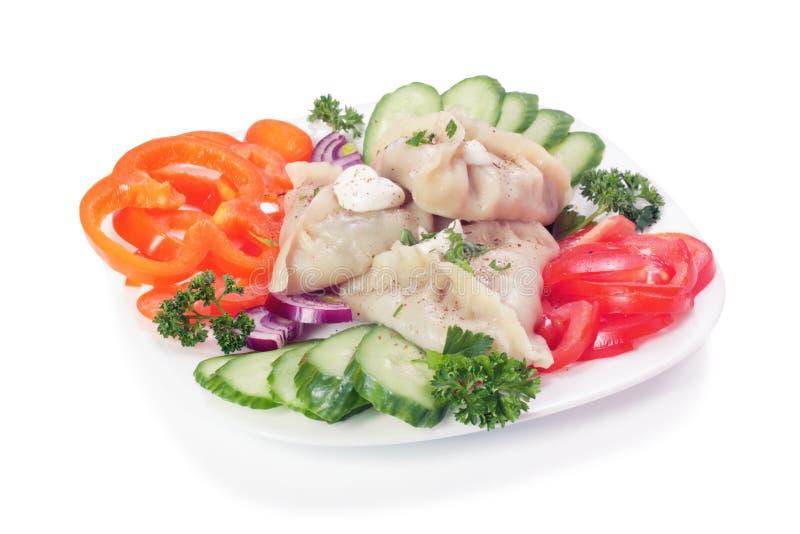 Manti (dumpling) stock image