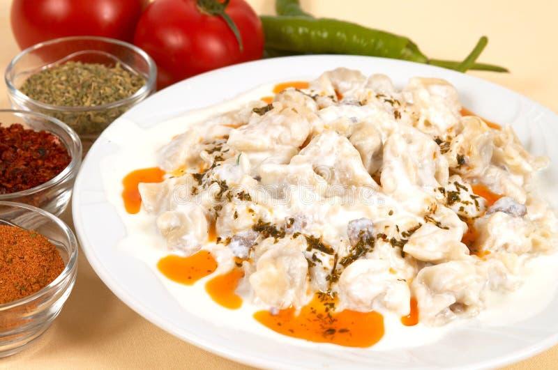 Manti (ravioli) stock photo