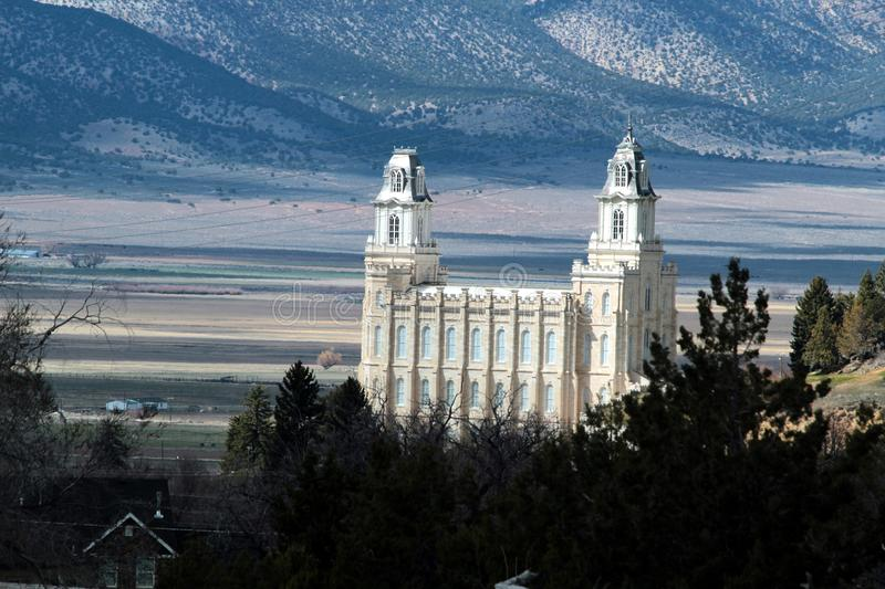 Manti Utah Mormon LDS Temple early spring stock photos