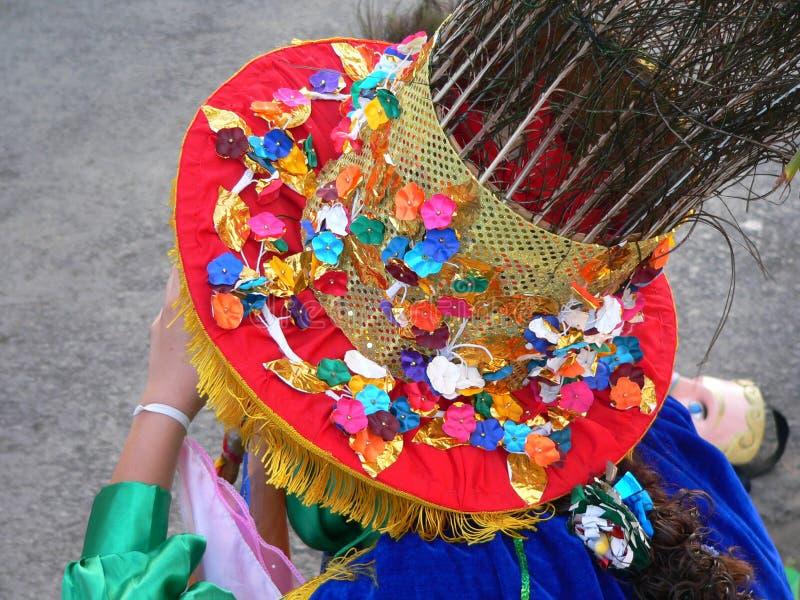 Mantilha colorida do carnaval imagem de stock