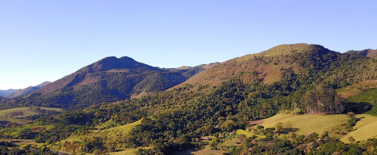 The Mantiqueira mountain range royalty free stock images