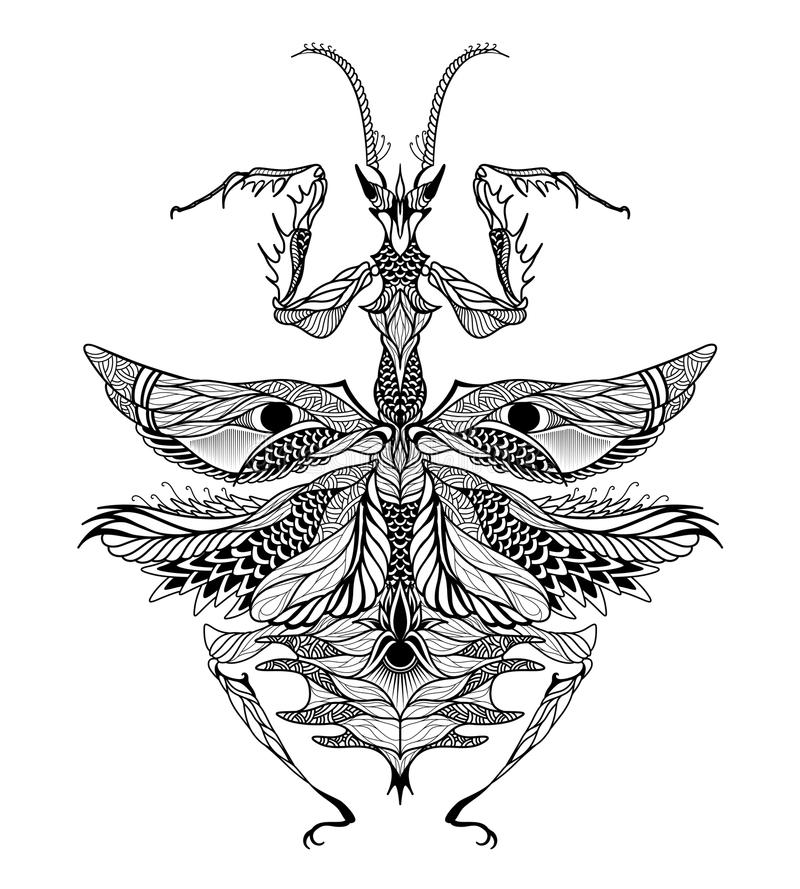 Mantis Tattoo Stock Illustrations 63 Mantis Tattoo Stock