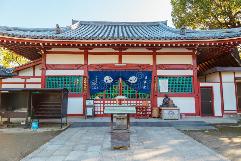 Mantointempel bij Shitennoji-Tempel in Osaka stock foto