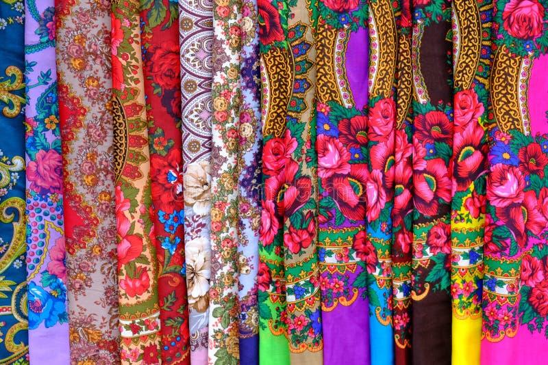 Mantones ucranianos coloridos fotos de archivo