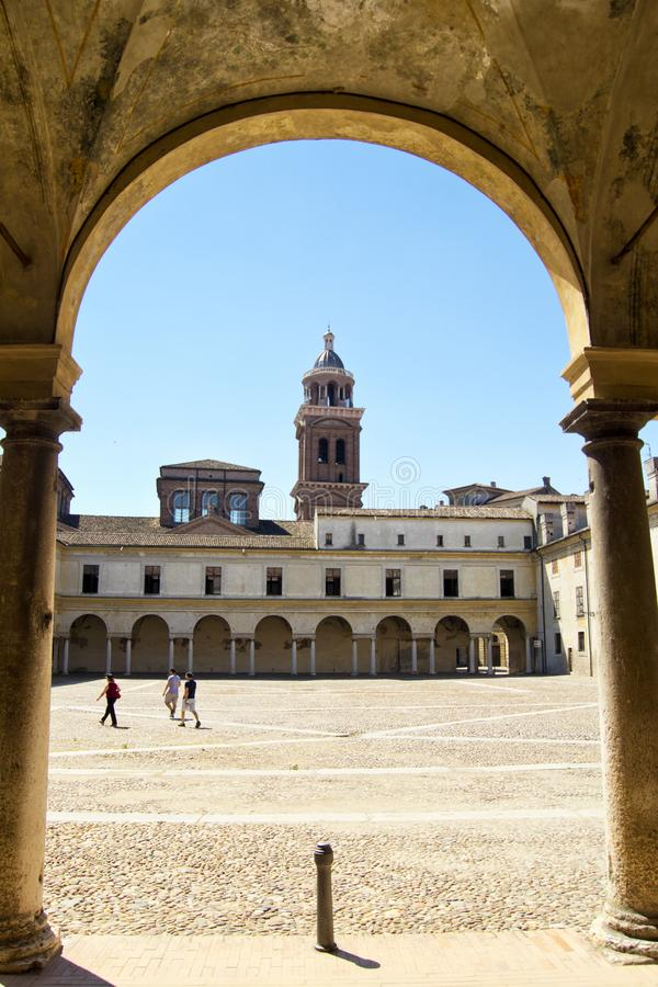 Mantova capitale du règne de reinassance de la famille de Gonzaga, en Italie du nord photographie stock libre de droits