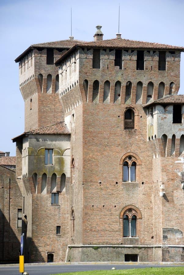 Mantova castle. In the spring season stock photos