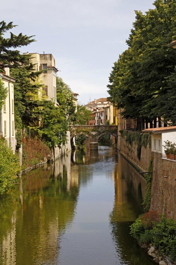 Mantova, Fluss Rio Sottoriva, Italien stockbild