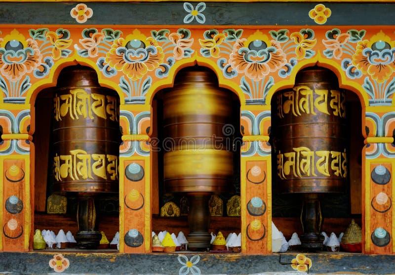 Mantra de torneado en Bhután fotografía de archivo libre de regalías