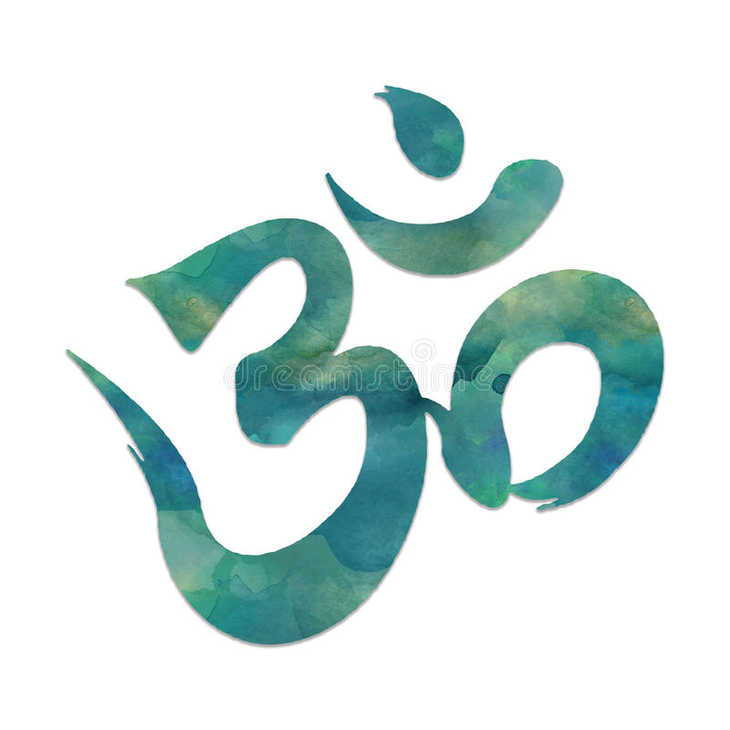 Mantra symbol. Image of the mantra symbol, OHM, used in meditation and yoga royalty free illustration