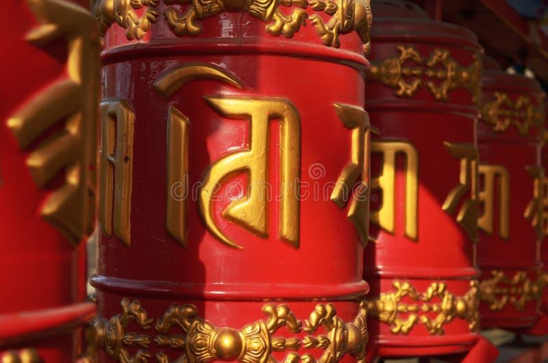 Mantras dos cilindros (desejo do ispolnyayut) fotos de stock