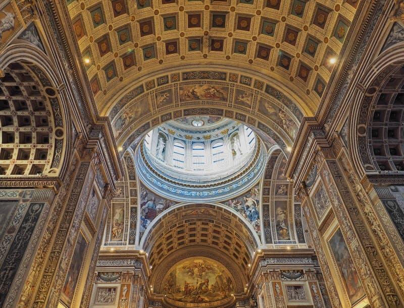 Mantua, Italië - April 29, 2018: Binnenland van Kerk van Sant Andrea Montegna van Mantua, Lombardije, Italië royalty-vrije stock foto's