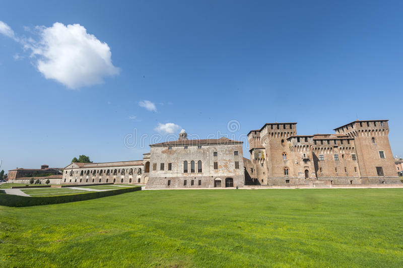 Mantua, Palazzo Ducale e castelo imagens de stock