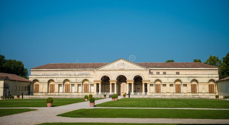 Mantua, Palazzo Te. The facade of the historic Palazzo Te and garden, Mantua, Lombardy, Italy royalty free stock image