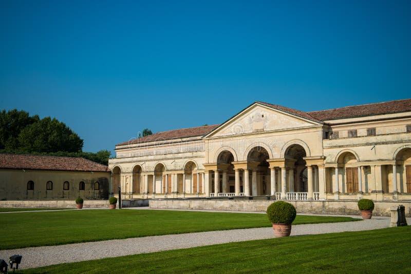Mantua, Palazzo Te. The facade of the historic Palazzo Te and garden, Mantua, Lombardy, Italy stock photo