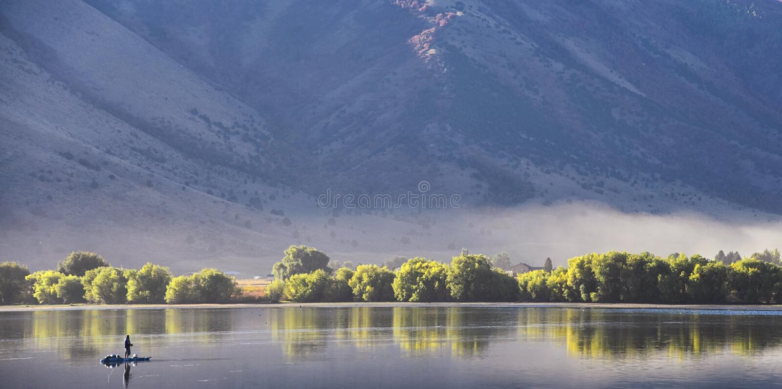 Mantua Reservoir landscape views. Mantua is a small town on the eastern edge Box Elder County, Historically known as Box Elder Val. Ley, Copenhagen, Flaxville royalty free stock images
