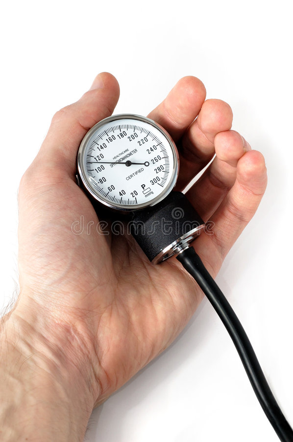 Download Manual Blood Pressure Monitor In Hand Medical Tool Isolated Stock Image - Image: 764155