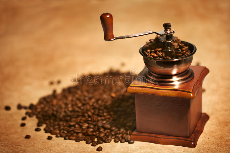Manual coffee grinder stock photos