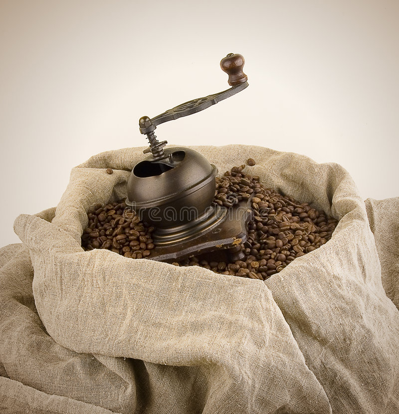 The manual coffee grinder. Has not coped with work stock images