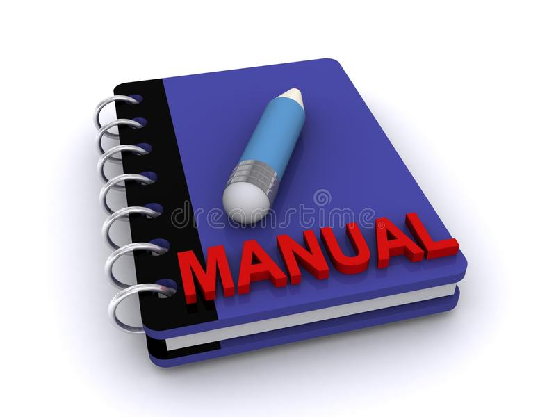 Manual da instrução ilustração stock