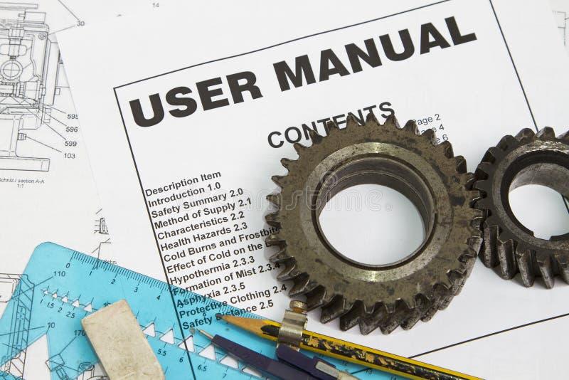 Manual del utilizador imagen de archivo libre de regalías