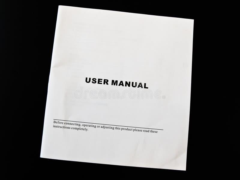 Manual del utilizador foto de archivo