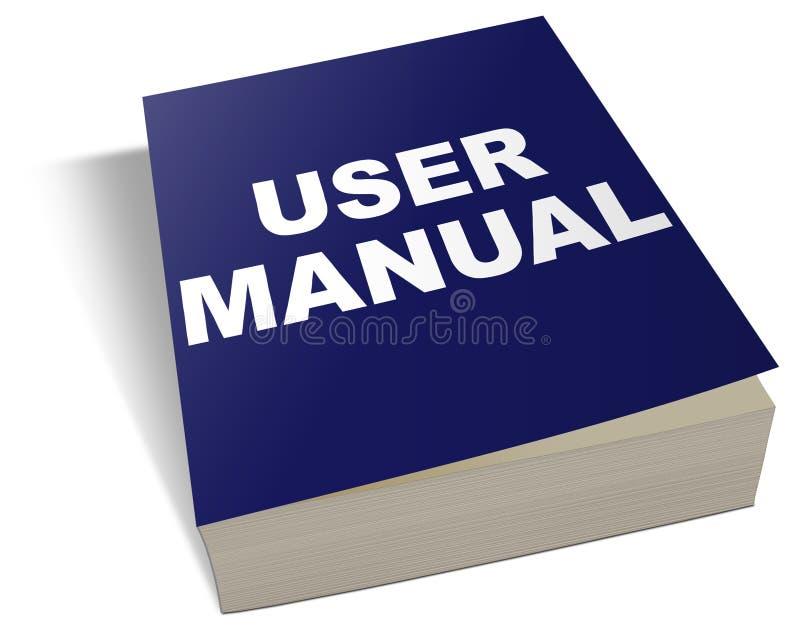 Manual do usuário ilustração stock