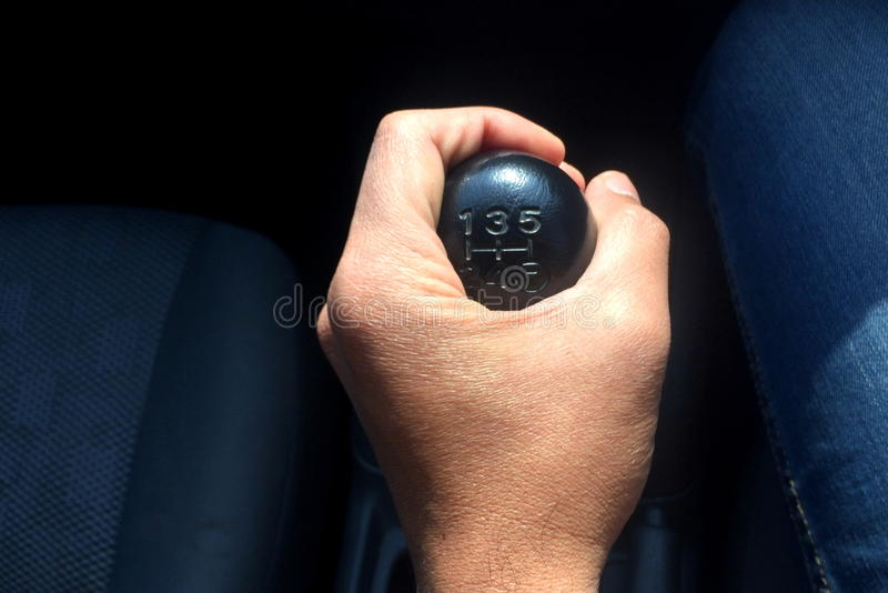 Manual gear shift royalty free stock photography