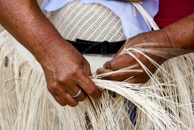 Download Manual Hat Weaving Process stock image. Image of hatter - 43236545