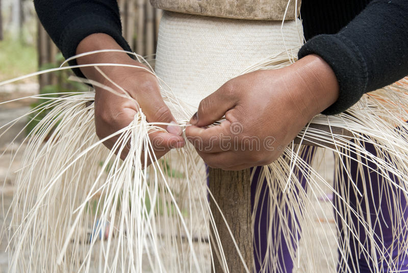 Download Manual Hat Weaving Process stock photo. Image of casual - 75378612
