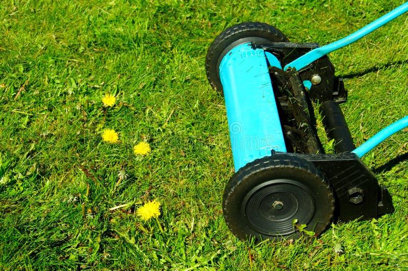 Manual lawn mower stock images