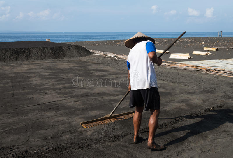 Download Traditional Sea Salt Production On On The Volcanic Black Sand, B Editorial Stock Image - Image: 29864584