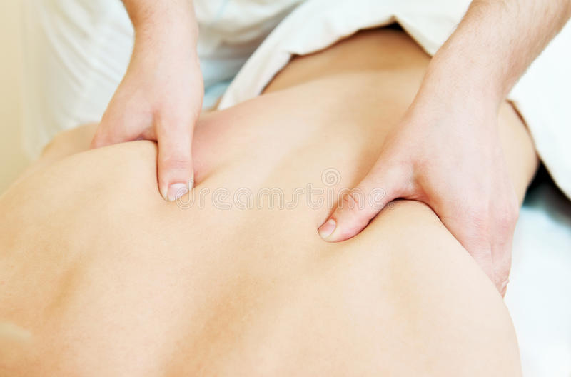 Manual Medical Massage Technique Stock Images