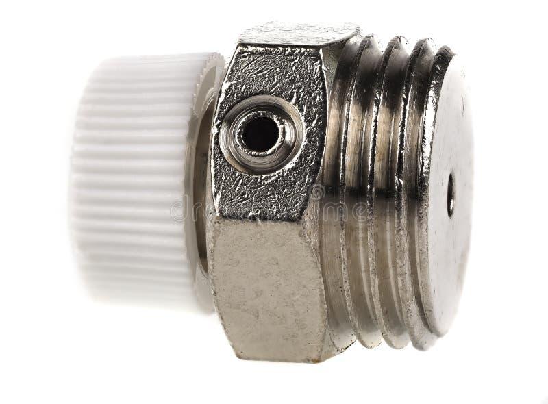 1/2` manual radiator vent isolated on white stock image