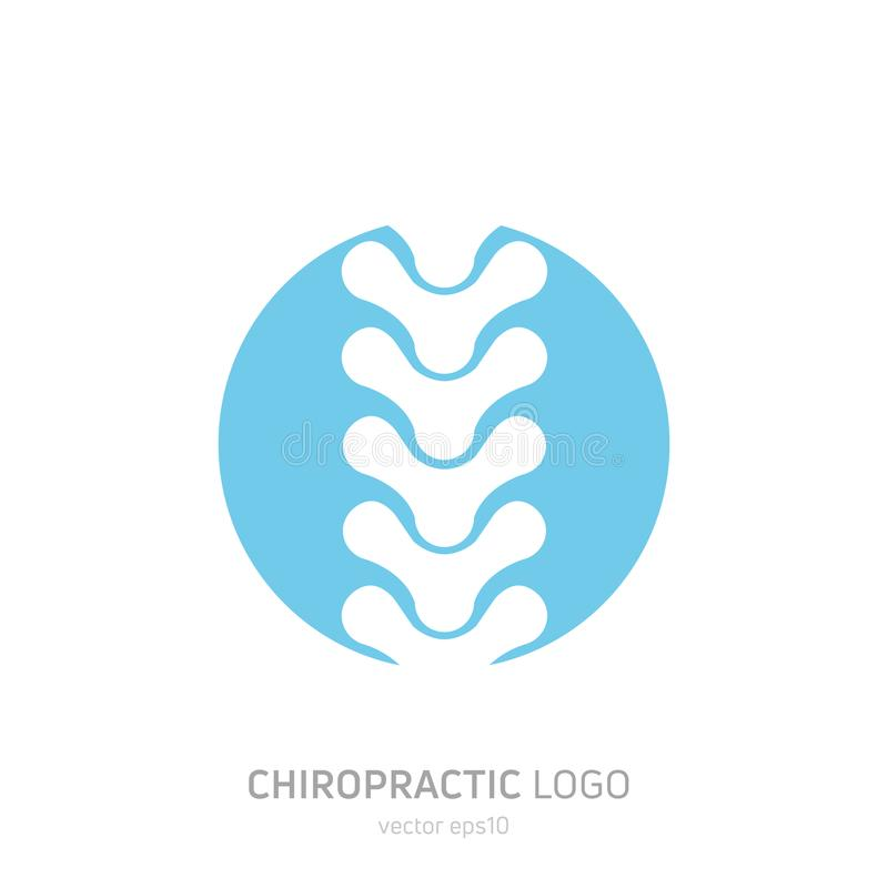 Manual therapy logo. Chiropractic and other alternative medicine. Doctor`s office, training courses. Vector flat gradient illustration royalty free illustration
