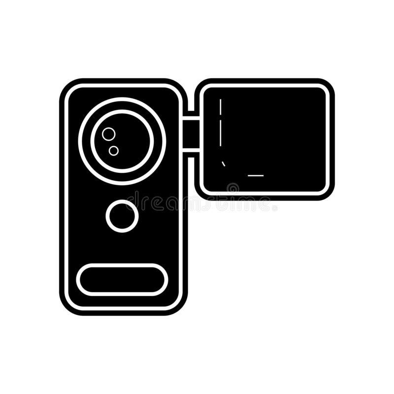 manual video camera icon. Element of Media tool for mobile concept and web apps icon. Glyph, flat icon for website design and royalty free illustration