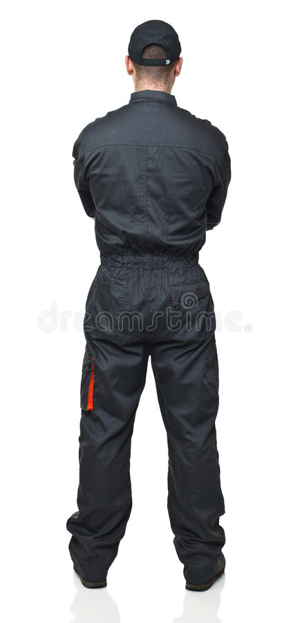 Download Manual worker back view stock image. Image of caucasian - 18331469