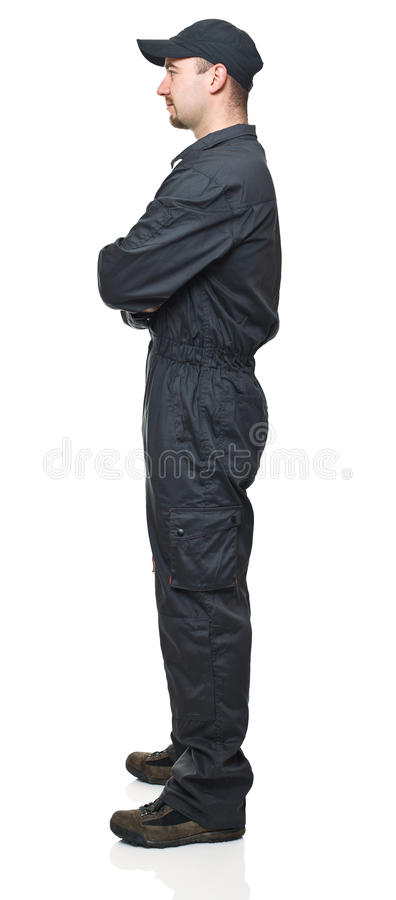 Download Manual worker side view stock image. Image of caucasian - 18331485