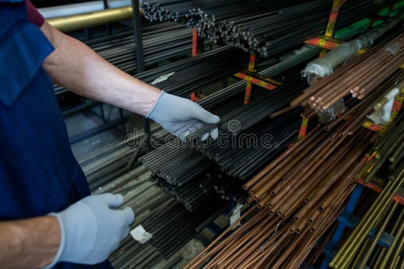 Manual worker at work stock image