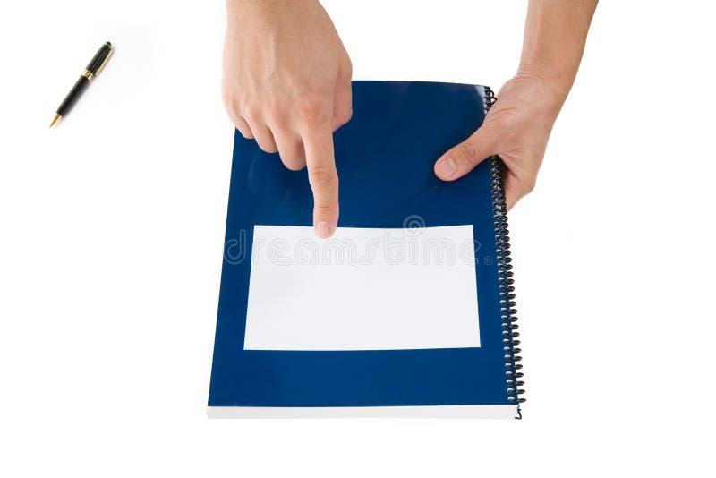 Manuale blu del banco fotografia stock libera da diritti