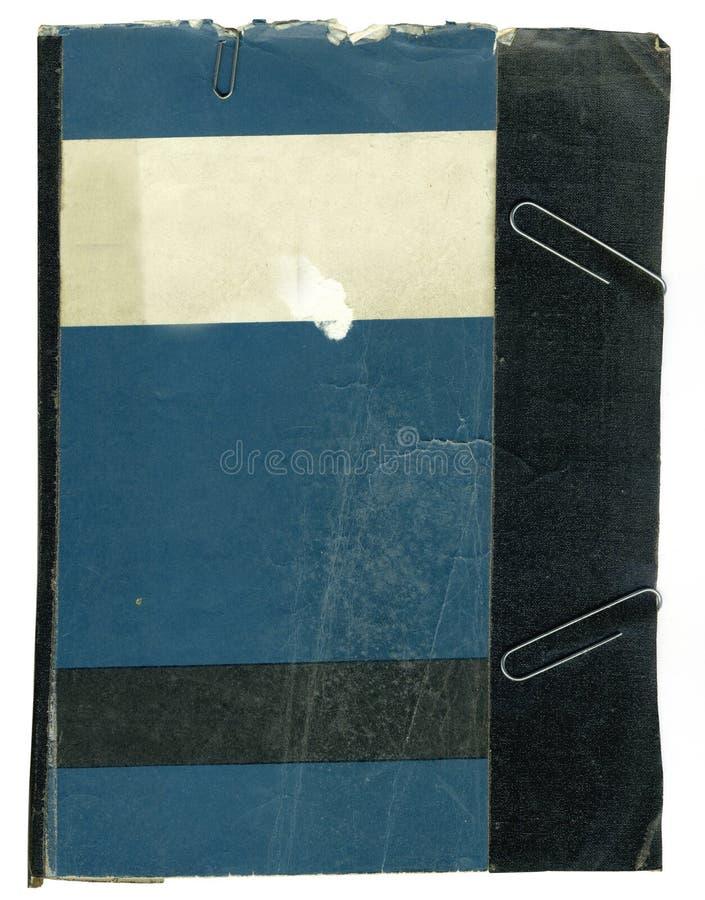 Manuale del vecchio banco tenuto insieme con nastro adesivo e la S immagini stock