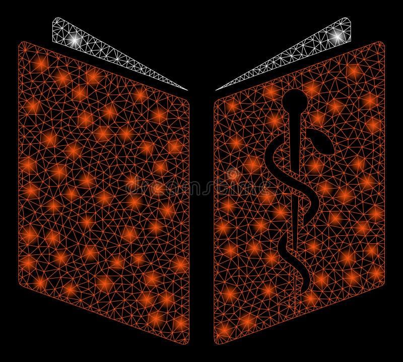 Manuale della droga della maglia luminosa 2D con i punti istantanei illustrazione vettoriale