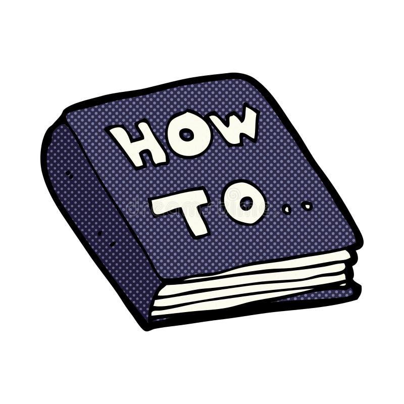 manuale fai-da-te comico del fumetto illustrazione di stock