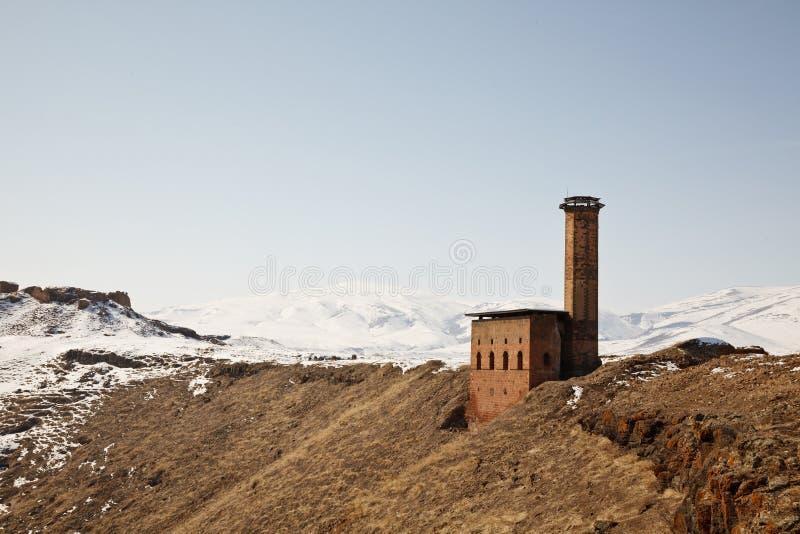 Manucehr-Moschee im Ani, Kars, die Türkei stockfotos