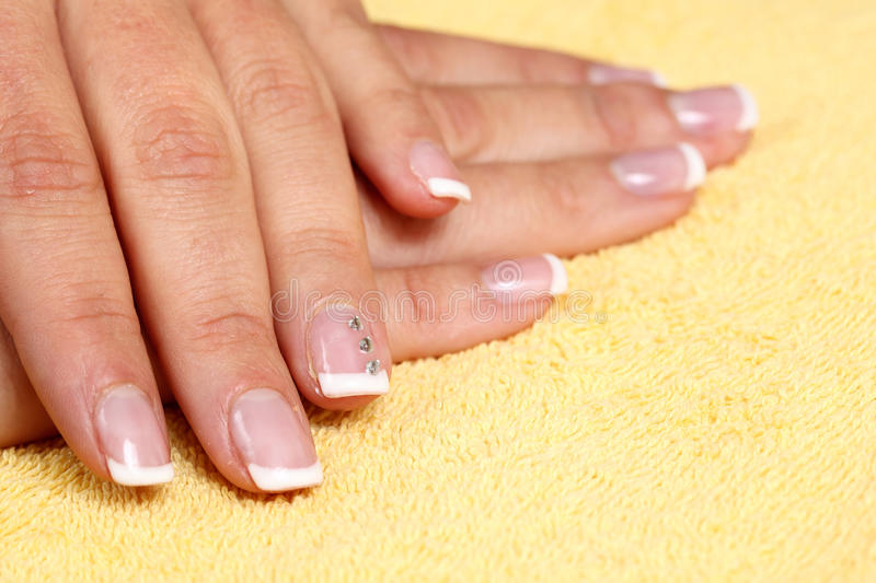 Manucure d'ongles image stock