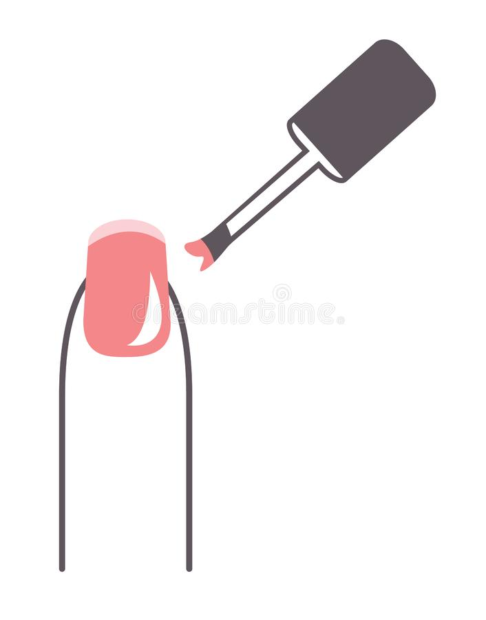 Manucure de vernis à ongles illustration stock