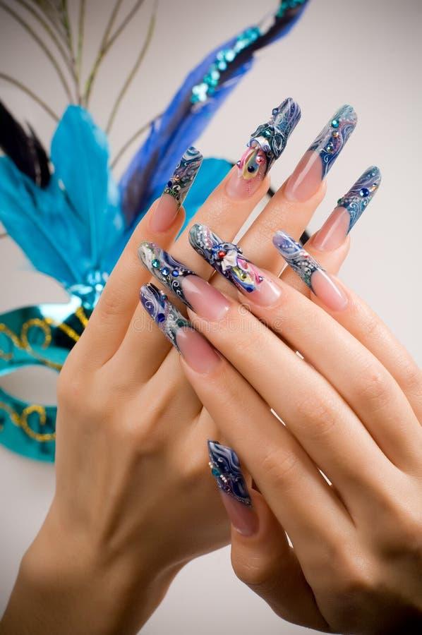 Manucure des doigts des mains photos stock